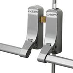 Exidor 317 - Double Door Set with Vertical Pullman Latches for Rebated Double Doors