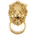 From The Anvil 33020 - Polished Brass Lions Head Door Knocker