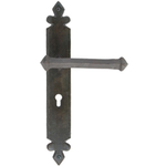 From The Anvil 33170 - Beeswax Tudor Lever Lock on Backplate Set
