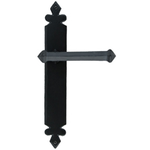 From The Anvil 33173 - Black Tudor Lever Latch on Backplate Set