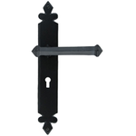 From The Anvil 33247 - Black Tudor Lever Lock on Backplate Set