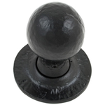From The Anvil 33252 - Black Round Mortice Rim Knob Set