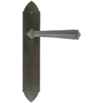 From The Anvil 33270 - Beeswax Gothic Lever Latch on Backplate Set