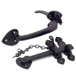 From The Anvil 33321 - Black Thumblatch Set with Chain