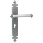 From The Anvil 33608 - Pewter Patina Tudor Lever Lock on Backplate Set