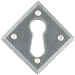 From The Anvil 33613 - Pewter Patina Diamond Escutcheon Plate
