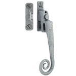 From The Anvil 33618 - Pewter Patina Monkeytail Locking Casement Fastener with Night Vent - Left Hand