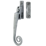 From The Anvil 33619 - Pewter Patina Monkeytail Locking Casement Fastener with Night Vent - Right Hand