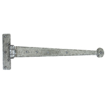 From The Anvil 33653 - Pewter Patina T-Hinge Penny End 15 inch