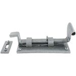 From The Anvil 33659 - Pewter Patina Cranked Cupboard Bolt - 4 inch Outward Opening