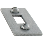 From The Anvil 33662K - Pewter Patina Spare Receiver Mortice Plate for 33662