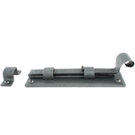 From The Anvil 33663 - Pewter Patina Straight Door Bolt - 6 inch Inward Opening