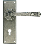 From The Anvil 33700 - Pewter Patina Avon Lever Lock on Backplate Set