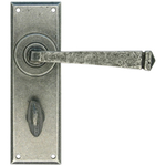 From The Anvil 33702 - Pewter Patina Avon Lever Bathroom on Backplate Set