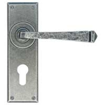From The Anvil 33703 - Pewter Patina Avon Euro Lock on Backplate Set