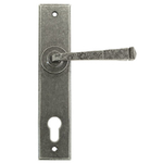 From The Anvil 33704 - Pewter Patina Avon Espag Lock Set on Backplate 92mm