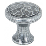 From The Anvil 33705 - Pewter Patina Beaten Cupboard Knob 20mm
