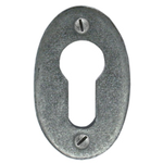 From The Anvil 33706 - Pewter Patina Oval Euro Escutcheon Plate