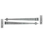 From The Anvil 33741 - Pewter 35 inch Hook & Band Hinge - Cranked (pair)