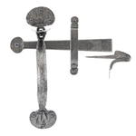 From The Anvil 33763 - Pewter Patina Heavy Bean Thumblatch