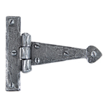From The Anvil 33774 - Pewter Patina Arrow Head Hinge 4 inch