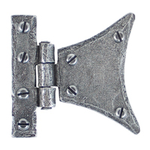 From The Anvil 33782 - Pewter Patina Half-Butterfly Hinge 2 inch