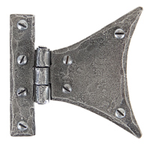 From The Anvil 33783 - Pewter Patina Half-Butterfly Hinge 3 inch