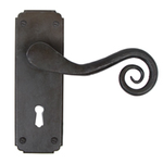 From The Anvil 33900 - Beeswax Unsprung Monkeytail Lever on Lock Backplate