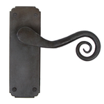 From The Anvil 33901 - Beeswax Unsprung Monkeytail Lever on Latch Backplate