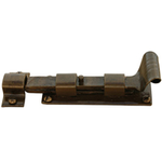 From The Anvil 33904 - Bronze Straight Cupboard Bolt - 4 inch Inward Opening
