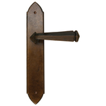 From The Anvil 33945 - Bronze Gothic Lever on Latch Backplate