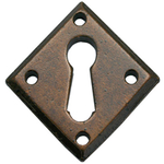 From The Anvil 33946 - Bronze Diamond Escutcheon Plate