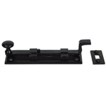 From The Anvil 33979 - Black Cranked Knob Bolt 6 inch - Outward opening
