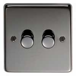 From The Anvil 91799 - Black Nickel Double Dimmer Switch