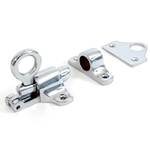 From The Anvil 90268 - Polished Chrome Fanlight Catch + Two Keeps