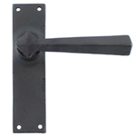 From The Anvil 73114 - Beeswax Straight Sprung Door Lever on Latch Backplate