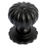 From The Anvil 83509 - Black Cabinet knob with Base - Large