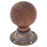 From The Anvil 83573 - Rosewood Wooden Beehive Mortice/Rim Knob Set