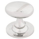 From The Anvil 83629 - Cast Oval Mortice/Rim Knob Set - Polished Nickel