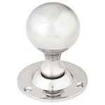 From The Anvil 83632 - Polished Nickel Cast Ball Mortice Knob Set