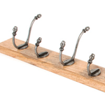 From The Anvil 83744 - Country Coat Rack - Natural Smooth/Timber