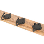 From The Anvil 83746 - Cottage Coat Rack - Beeswax/Timber