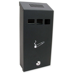 Sterling Locks CIG1BK - Small Black Cigarette Bin