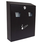 Sterling Locks CIG2BK - Medium Black Cigarette Bin