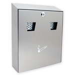 Sterling Locks CIG2ST - Medium Stainless Steel Cigarette Bin