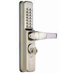 Codelocks CL0460 - Narrow stile Codelock complete with threaded cylinder and cams
