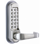 Codelocks CL515 - Mechanical Codelock with Tubular Mortice Latch. Code Free Entry Option