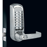 Codelocks CL615 - Tubular Mortice Latch Lock. Code Free Entry Option