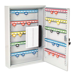 Sterling Locks KC100HE - Heavy Duty Single Door Lockable Key Cabinet Euro Lock Case - 100 Keys