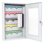Sterling Locks KC50HD - Heavy Duty Single Door Lockable Key Cabinet Perspex Window - 50 Keys